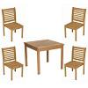 Conjunto Ipanema - Mesa 85x85 com 4 Cadeiras Milano Sem Braços