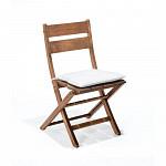 Cadeira Dobrável Verona sem Braços com almofada Polisten Nogueira