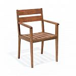 Cadeira Verona com Braços Polisten Nogueira