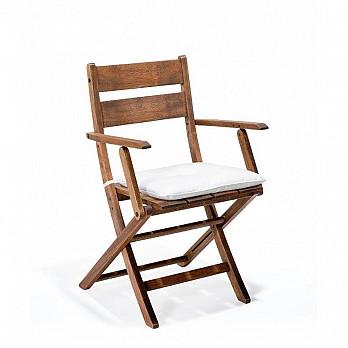 Cadeira Dobrável Verona com Braços com almofada