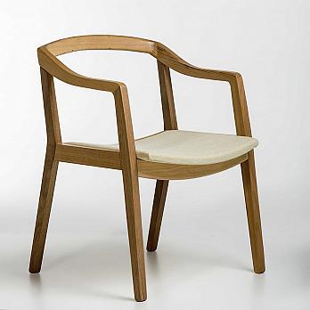 Cadeira Imirá com Braços - Assento Estofado / Encosto sem Corda