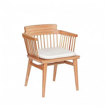 Cadeira Lótus com Braços com Almofada