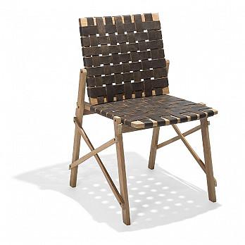 Cadeira Maresias sem Braços - Couro Marrom