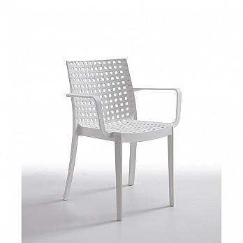 Cadeira Sophie com Braços - Branco