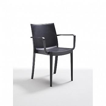 Cadeira Victoria com Braços - Preto