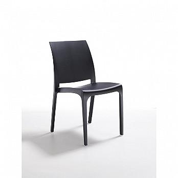 Cadeira Volga sem Braços - Preto