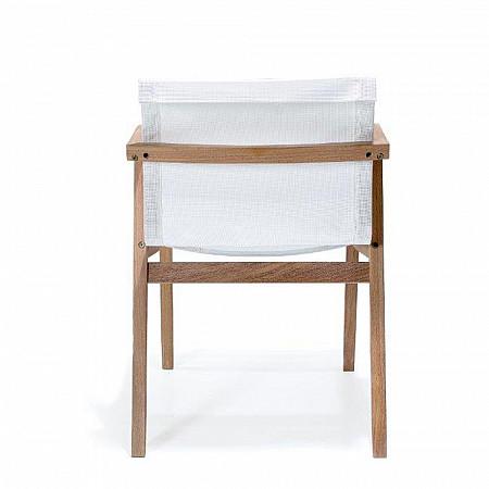 Cadeira Bali com Braços - Tela Branca