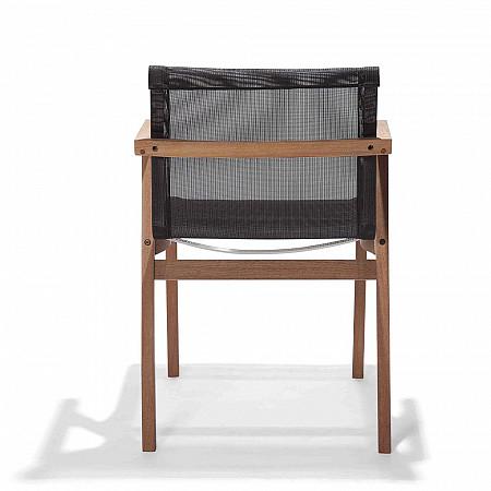 Cadeira Bali com Braços - Tela Preta