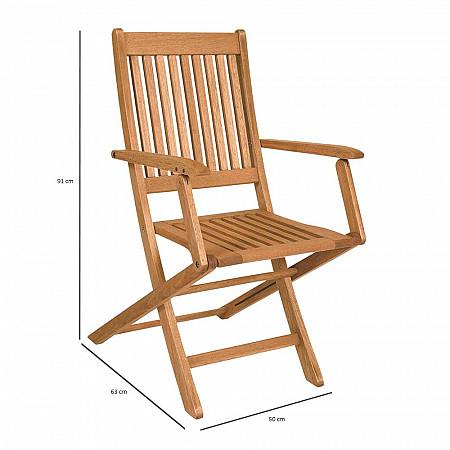 Cadeira Dobrável Ipanema com Braços
