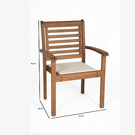 Cadeira Empilhável Milano Estofada com Braços