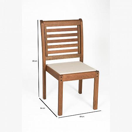 Cadeira Empilhável Milano Estofada sem Braços