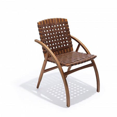 Cadeira Flexa - Couro Castor