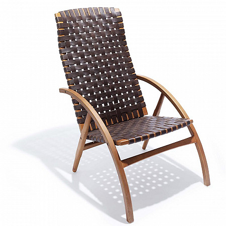 Cadeira Flexa Longa - Couro Castor