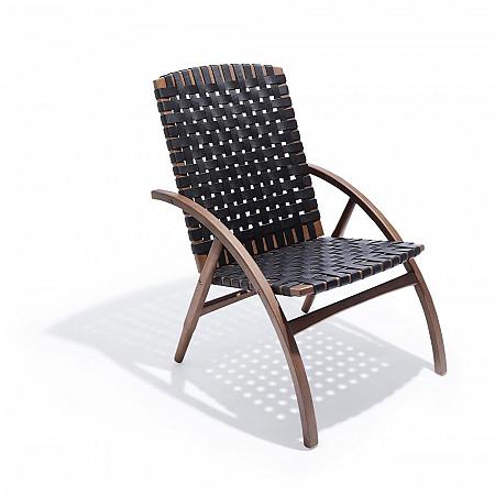 Cadeira Flexa Média - Couro Preto