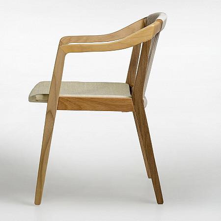 Cadeira Imirá com Braços - Assento Estofado / Encosto Corda Cru