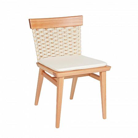 Cadeira Lótus sem Braços - Trama Natural - Com Almofada