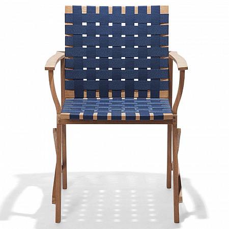 Cadeira Maresias com Braços - Percinta Azul Náutico
