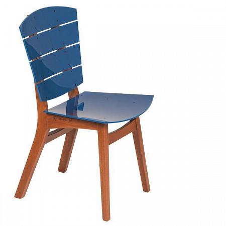 Cadeira Rio Acrílico Azul Safira