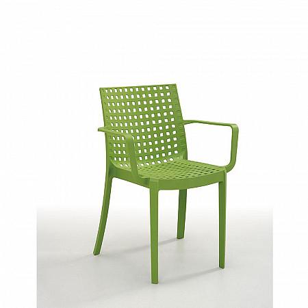 Cadeira Sophie com Braços -  Verde