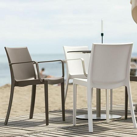 Cadeira Victoria com Braços - Cinza