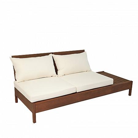 Componível Grass - Sofá 2 lugares com almofadas