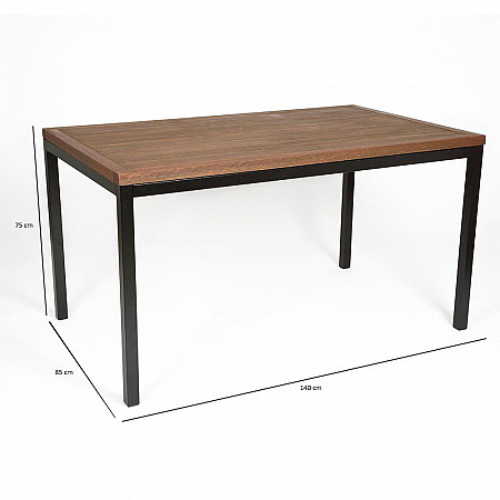 Mesa Mestra Ipanema com Pés de Aço Carbono 140 x 85